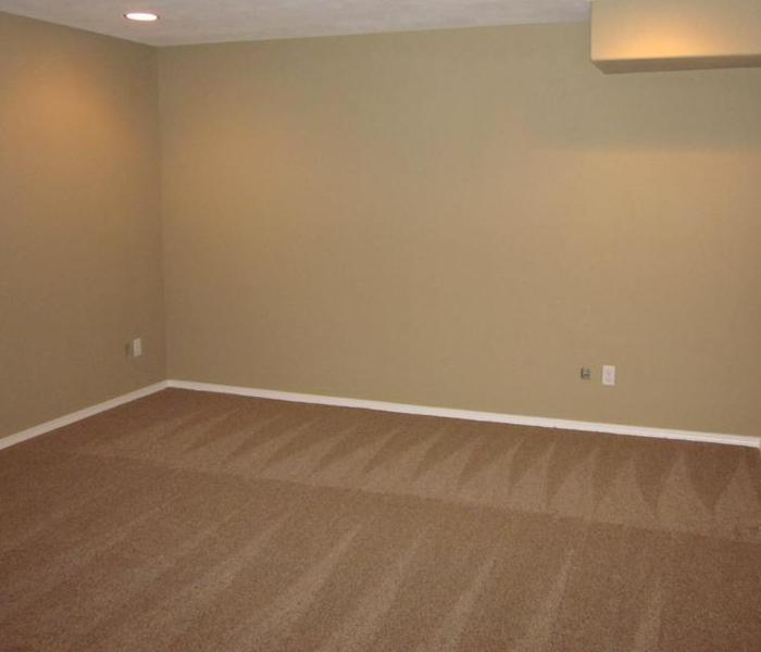 Clean walls and carpet