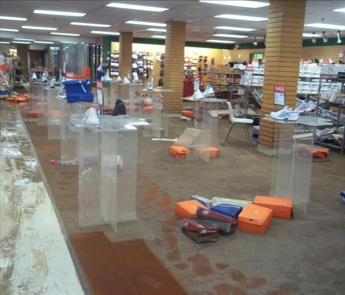 Retail - Water Damage Before