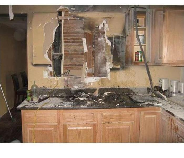 Kitchen fire damage